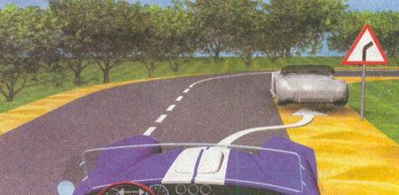Ставить автомобиль на стоянку в условиях ограниченной видимости (знак 1.11.1 «Опасный поворот»)...