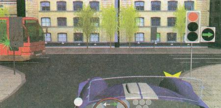 Стрелка, включенная в правой дополнительной секции одновременно с красным сигналом светофора, обязывает вас уступить дорогу автобусу