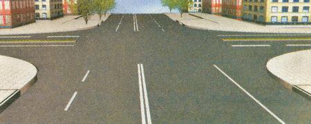 Независимо от того, сколько проезжих частей имеют пересекающиеся дороги, они образуют один перекресток