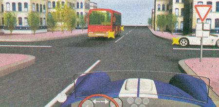 К перекрестку неравнозначных дорог, где главная дорога меняет направление, вы подъезжаете по второстепенной дороге (знаки 2.4 «Уступите дорогу»...