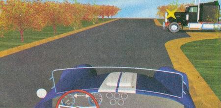 На данном перекрестке, несмотря на то, что грузовой автомобиль находится справа, вы не обязаны уступать ему дорогу...