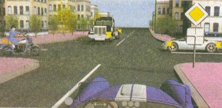 При въезде на перекресток неравнозначных дорог по главной дороге (знаки 2.1 «Главная дорога» и 8.13 «Направление главной дороги») вы...