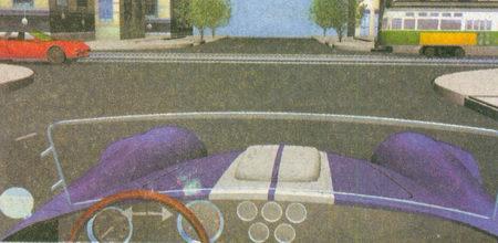 На данном перекрестке равнозначных дорог вы должны уступить дорогу только трамваю...