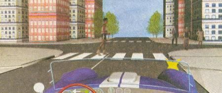 В данной ситуации вы должны уступить дорогу как пешеходу, переходящему ее по нерегулируемому пешеходному переходу...