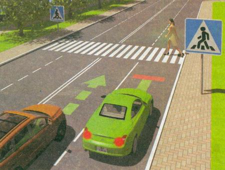 14.2. Если перед нерегулируемым пешеходным переходом остановилось или замедлило движение транспортное средство...