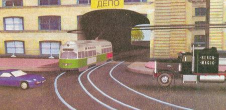 В этой ситуации водители грузового и легкового автомобилей не должны уступать дорогу так как трамвай...