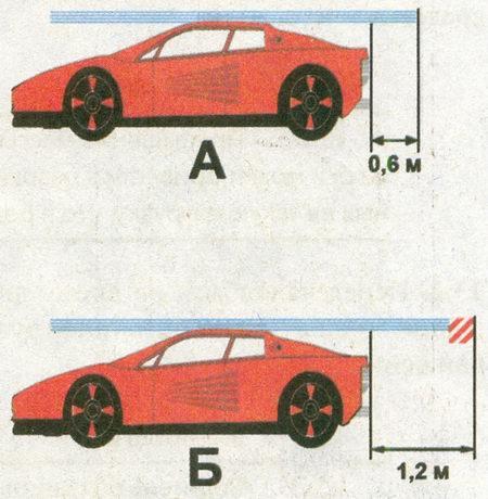 Правила дорожного движения обязывают водителей обозначать груз знаком «Крупногабаритный груз» в случаях...
