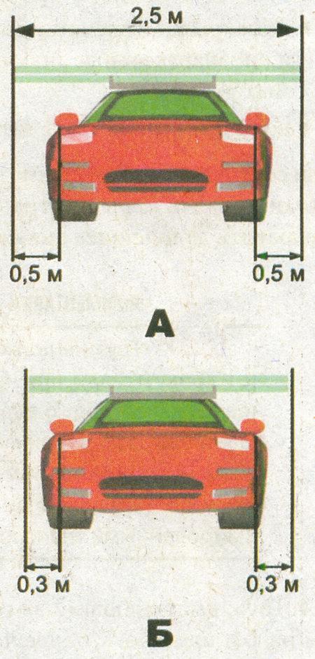 Правила дорожного движения допускают перевозку груза, если его ширина не превышает 2,55 м, однако груз должен быть обозначен знаком «Крупногабаритный груз» в случаях...