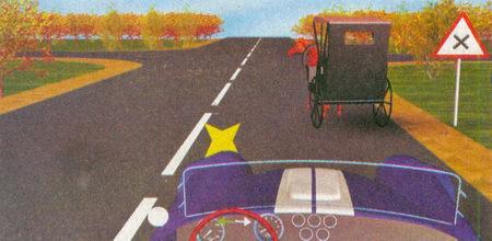 Вы приближаетесь к нерегулируемому перекрестку равнозначных дорог (знак 1.6 «Пересечение равнозначных дорог»).