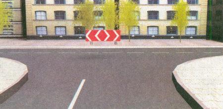 Знак 1.34.3 «Направление поворота»