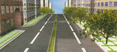 Дорога имеет одну проезжую часть, предназначенную для движения в обоих направлениях, так как двойная сплошная линия горизонтальной разметки 1.3 не является разделительной полосой