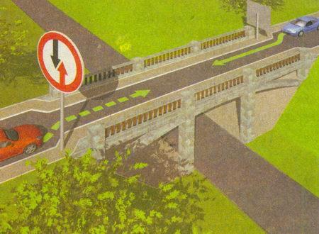 Знак 2.6 «Преимущество встречного движения» обязывает уступить дорогу встречным ТС, находящимся не только непосредственно на узком участке...