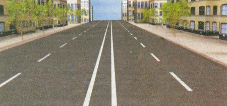 Данная дорога имеет две проезжие части, отделенные друг от друга разделительной полосой, у каждой из которых есть две полосы для движения