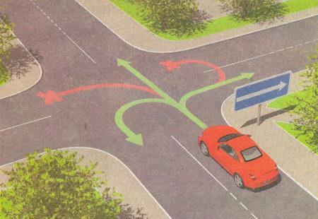 5.7.1, 5.7.2 Выезд на дорогу с односторонним движением