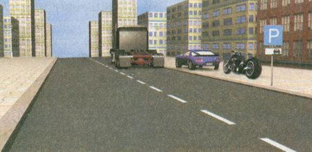 Стоянкой в данном месте, обозначенной знаком 6.4 «Место стоянки» в сочетании с табличкой 8.6.3 «Способ постановки транспортного средства на стоянку»...
