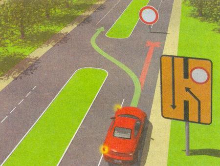 Знак 6.19.1 «Предварительный указатель перестроения на другую проезжую часть» применяется во время ремонтных работ на дорогах с разделительной полосой...