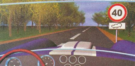 Табличка 8.16 «Влажное покрытие» информирует о том, что запрещение движения со скоростью более 40 км/ч, вводимое знаком 3.24...