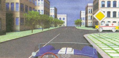 У автомобиля «Скорой помощи» не включены синий проблесковый маячок и сирена, а значит, вы имеете преимущество и не должны уступать дорогу (знак 2.1 «Главная дорога»)
