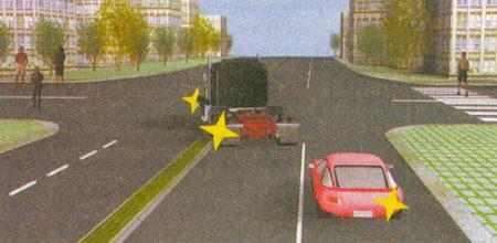 Оба водителя при повороте на перекрестке должны уступить дорогу пешеходам (п. 13.1) независимо от того...