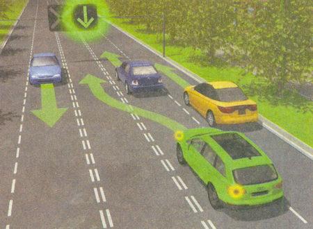 Для регулирования движения транспортных средств по полосам проезжей части, в частности по тем, направление движения по которым может изменяться на противоположное...