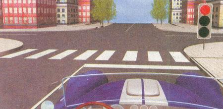 При запрещающем сигнале светофора и наличии стоп-линии на проезжей части водитель должен остановиться непосредственно передней