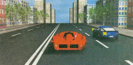 Красный автомобиль движется без изменения направления движения, поэтому его водитель...