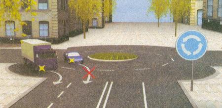Знак 4.3 «Круговое движение» информирует о том, что на данном перекрестке организовано круговое движение...