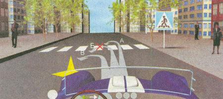 Нерегулируемый пешеходный переход, обозначенный разметкой 1.14.1 «Зебра»...