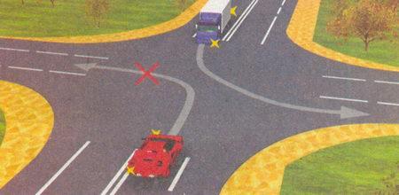 Въезжая на трехполосную дорогу, необходимо помнить, что средняя полоса такой дороги перед перекрестком предназначена для автомобилей...