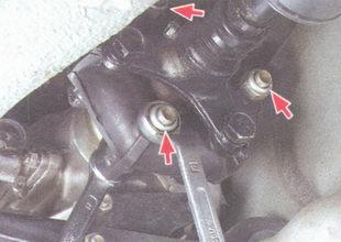 гайки крепления эластичной муфты к фланцу коробки передач