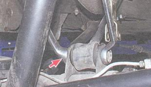 гайка крепления левой верхней продольной штанги