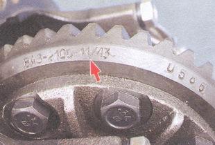 маркировка передаточного числа главной передачи