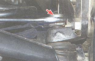 гайка крепления пальца нижнего шарового шарнира