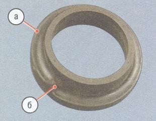 а - поверхность прокладки пружины, б - начало винтовой поверхности