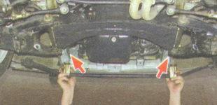 проверка соответствия установки втулок к местам крепления на кузове