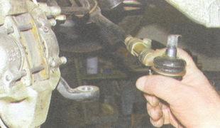 палец наружного шарового шарнира боковой рулевой тяги