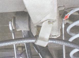 гайка крепления переднего конца продольной штанги