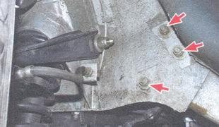 болты крепления рулевого механизма