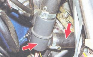 термостат ваз 2106, патрубок системы охлаждения