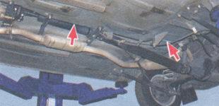 тормозная трубка контура привода задних тормозов