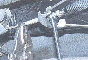 наконечник переднего троса, регулировочная гайка