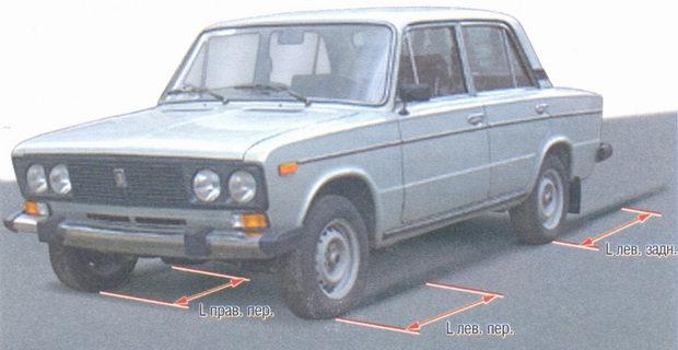 тормозной путь передних и задних колес на автомобиле ваз 2106