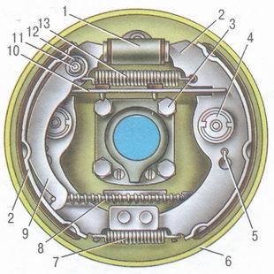 тормозной механизм заднего колеса автомобиль ваз 2106