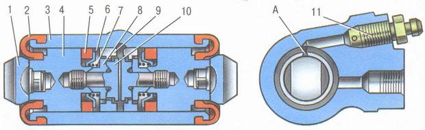 колесный тормозные цилиндр ваз 2106 с автоматическим устройством