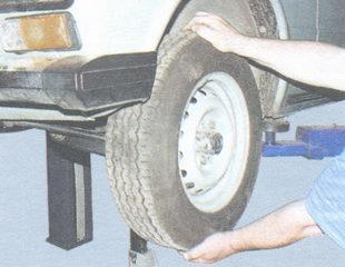проверка зазора в подшипниках ступицы