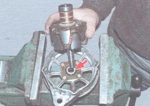 ротор в сборе с задним подшипником