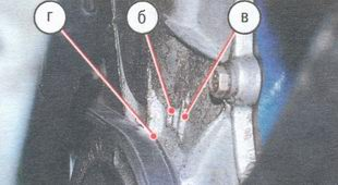 метки на шкиву коленвала и блоке цилиндров