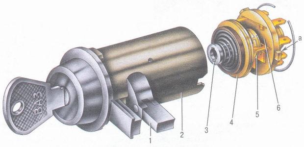 ваз 2105 замок зажигания схема подключения.