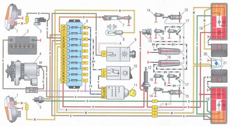 Безплатно научится читать электрические схемы Схема электрооборудования автомобиля ваз 2106 схема блок...