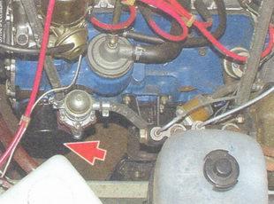 расположение масляного фильтра на автомобиле ваз 2106